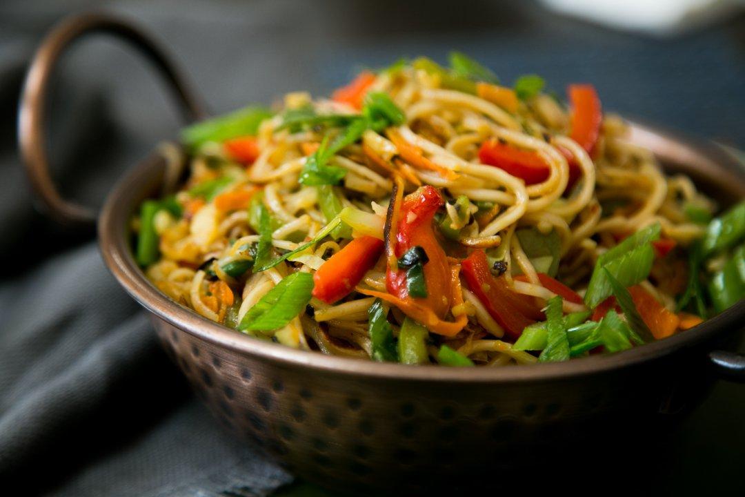 Amusing Delightful Veg Hakka Noodles Recipe