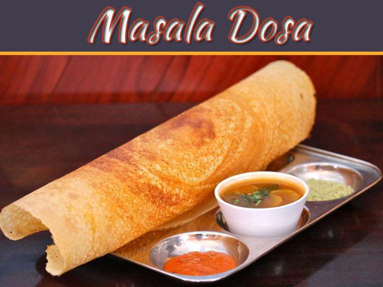 Recipe Of Masala Dosa With Coconut Chutney And Sambar