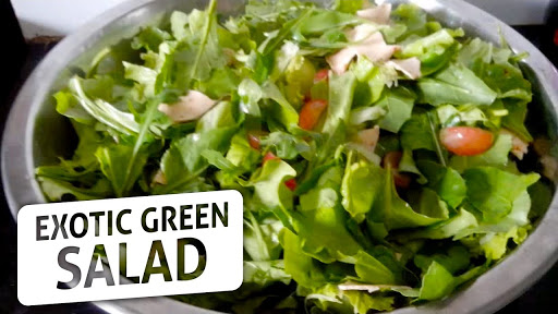 Serving Of Mixed Greens