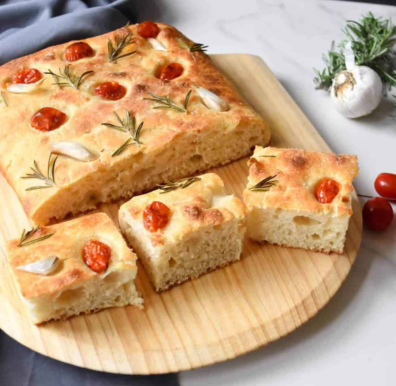 No-Knead Italian Focaccia