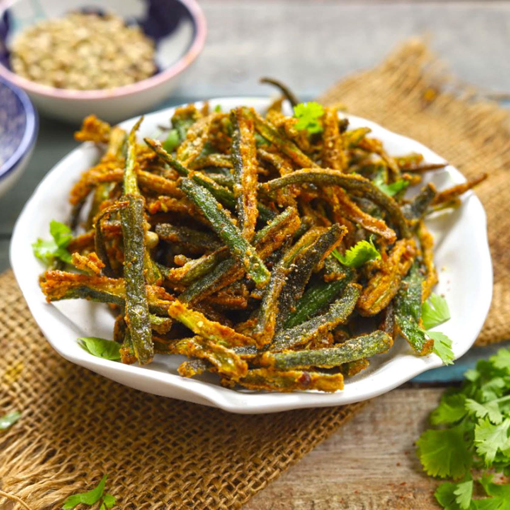 Kurkuri Bhindi Or Bhindi Fry Recipe: Crispy Okra Fry