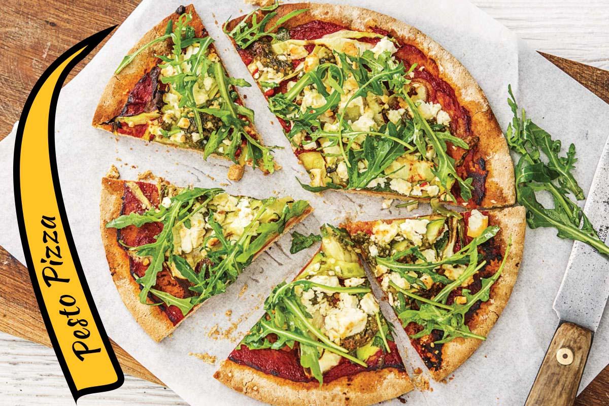 Quick And Easy Pesto Pizza Recipe