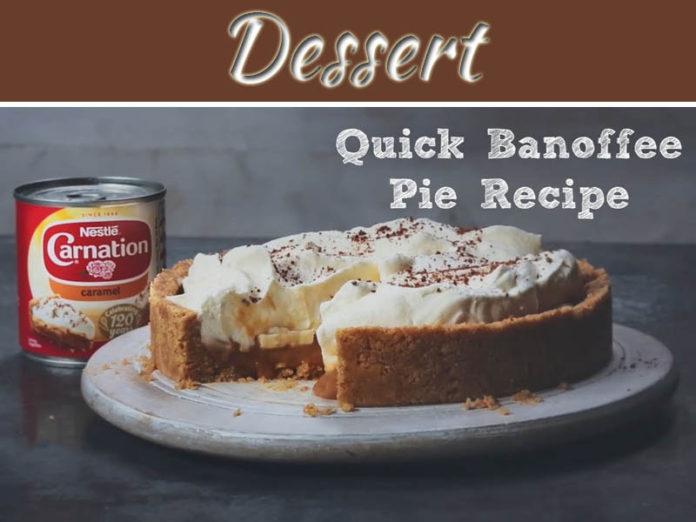 Unusual Chocolate Dessert: Caramel Banoffee Pie