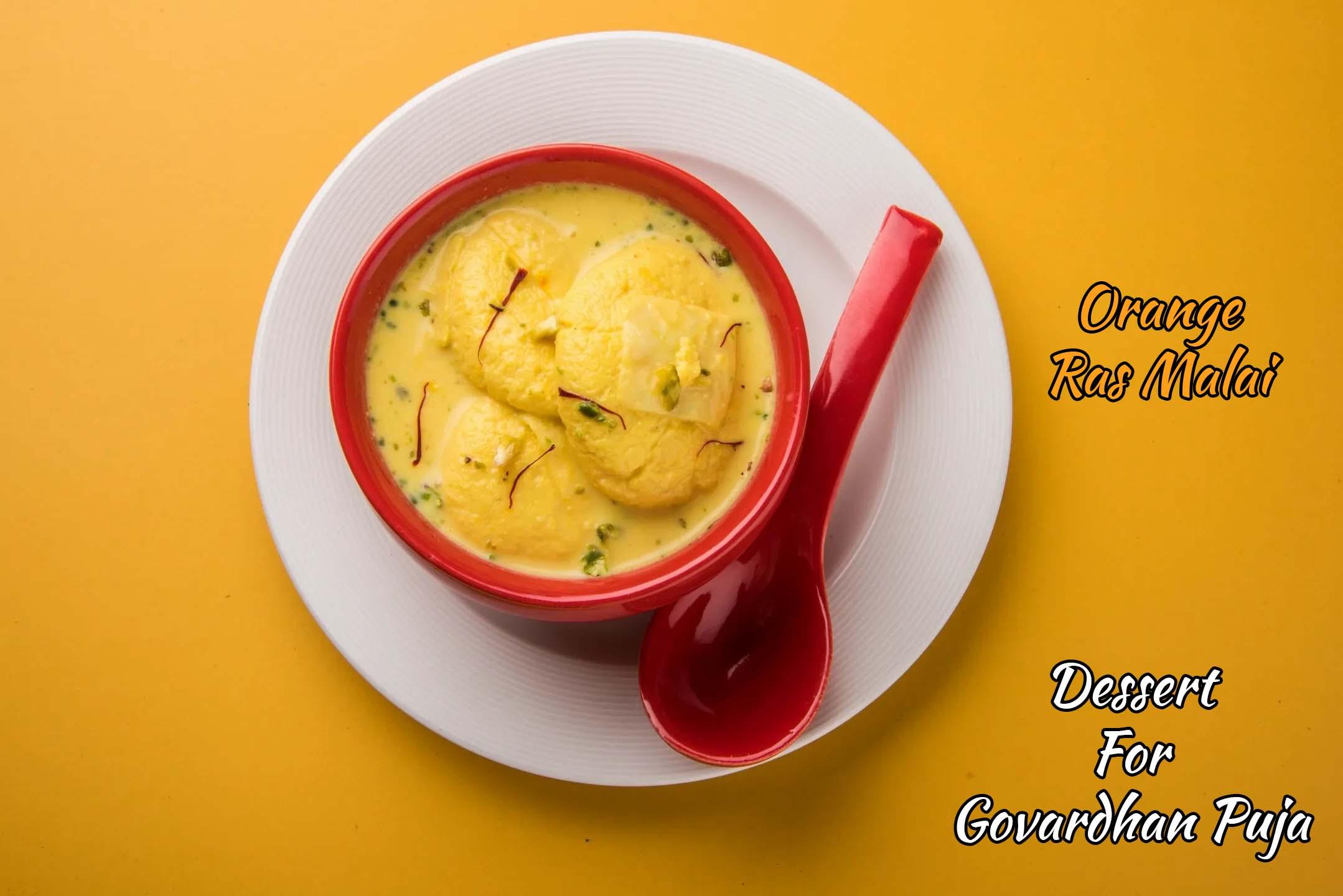 Orange Ras Malai Recipe