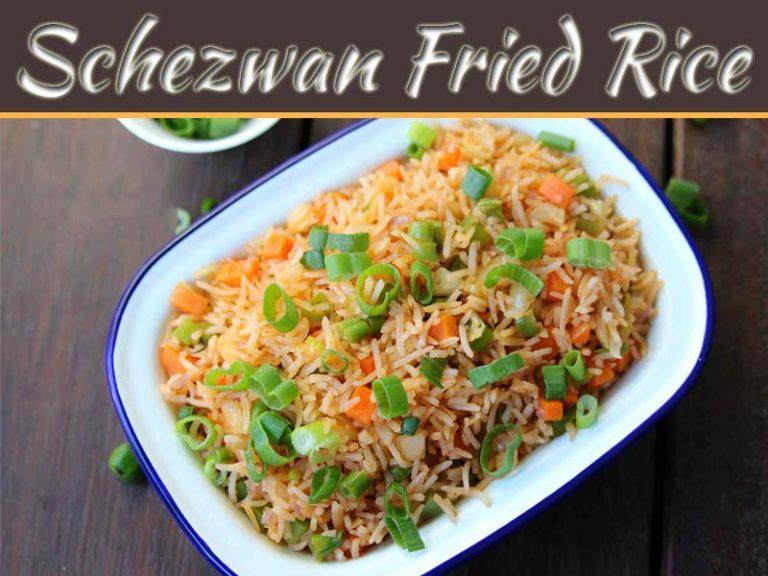 Eat The Tastiest Veg Schezwan Fried Rice Home-Made!