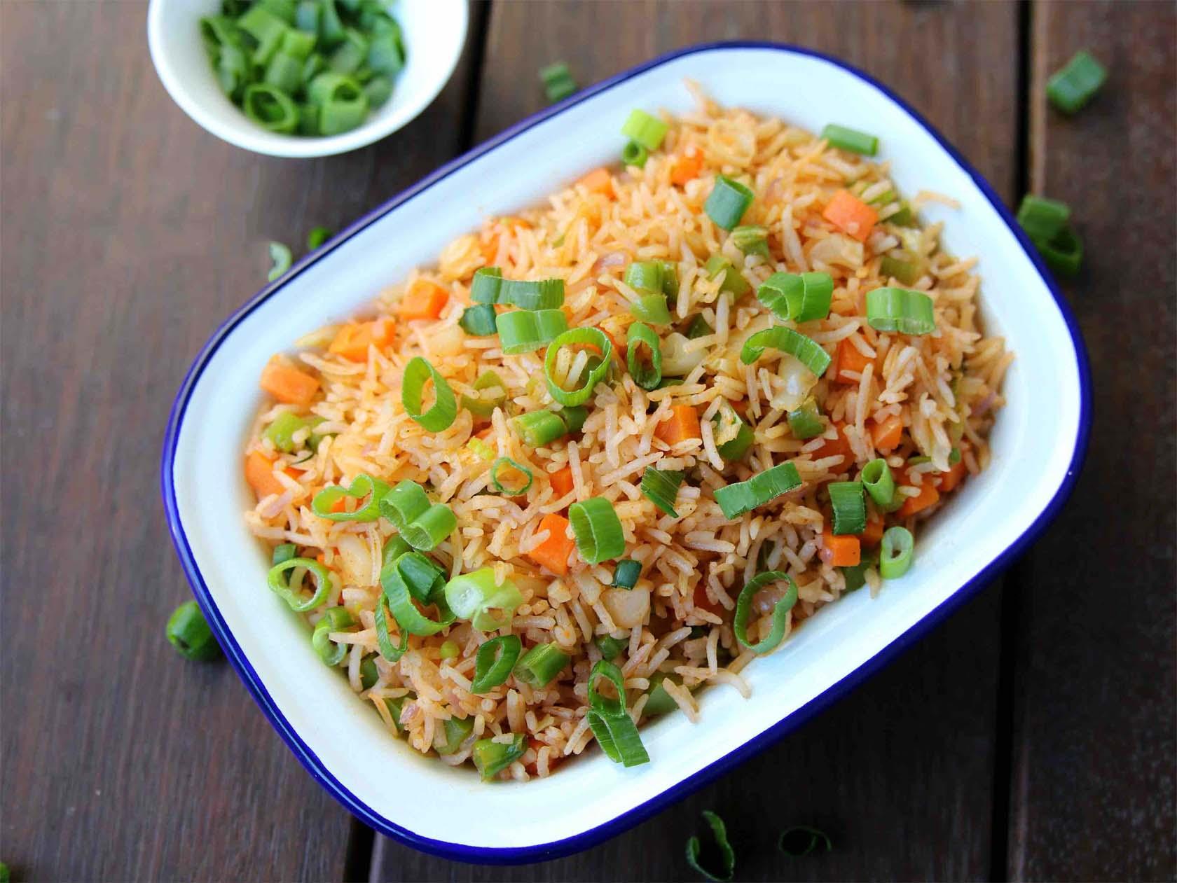 Veg Schezwan Fried Rice Home-Made