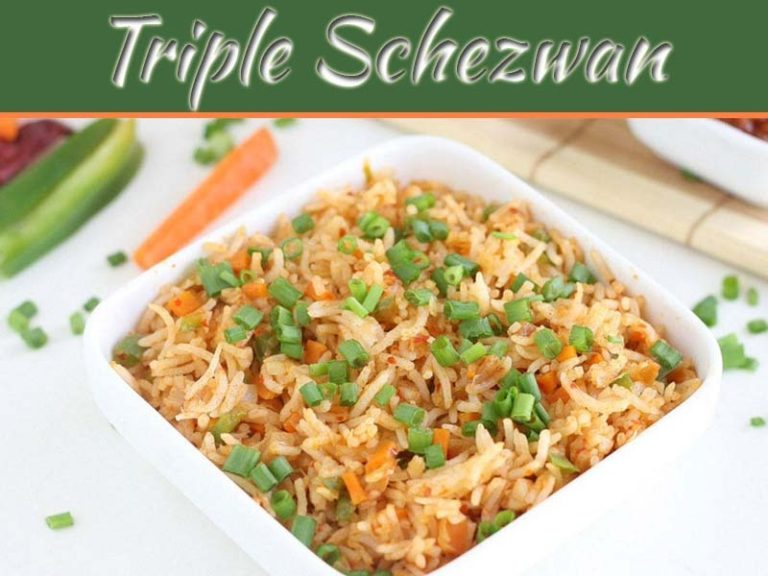 Yummy Triple Schezwan Rice. For Your Family!