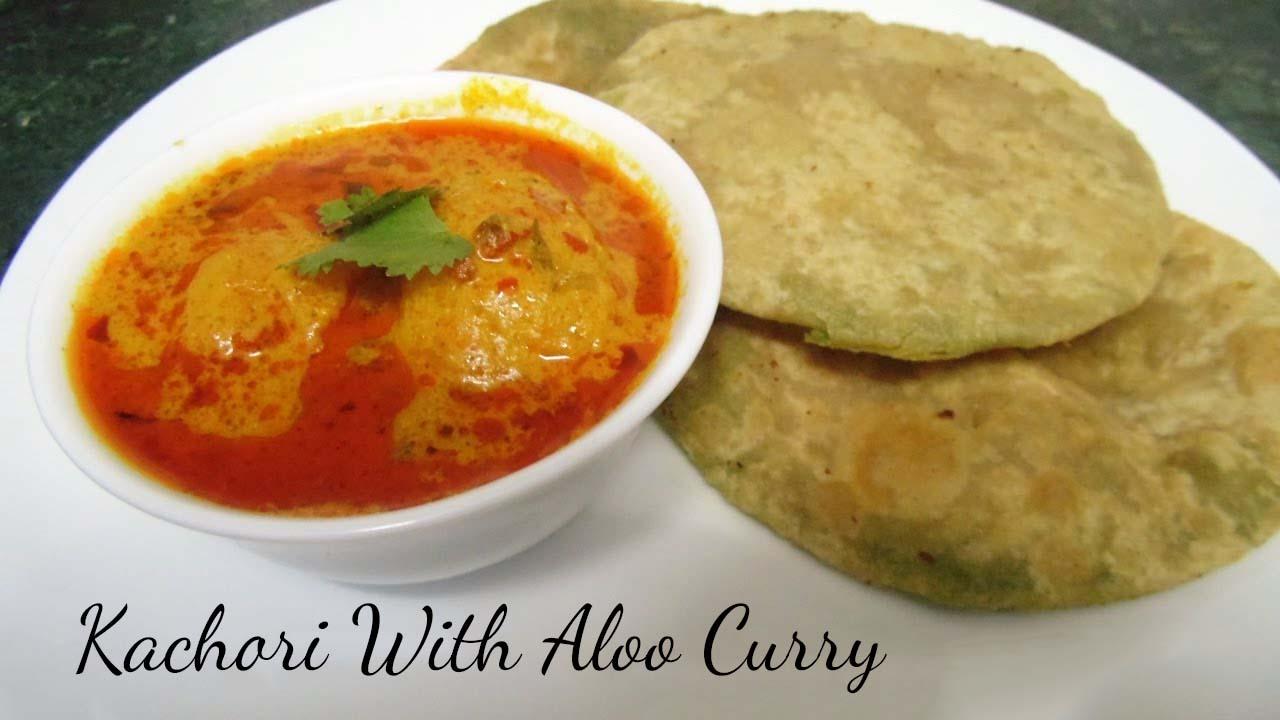 Kachori Or Puri With Aloo Curry