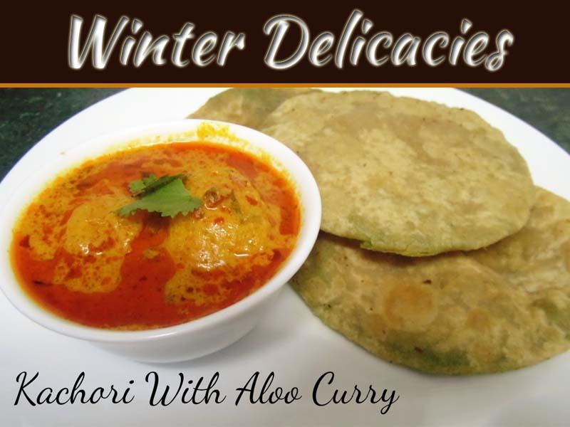Green Peas Kachori Or Puri With Aloo Curry
