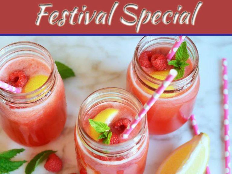 A Perfect Valentine's Day Drink Lemon Raspberry Love Drink