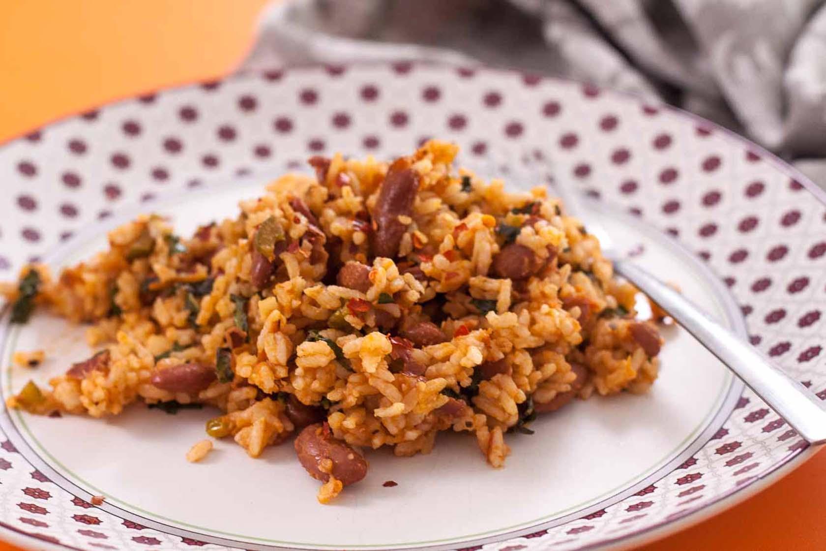 Spicy Rajma Rice And Marinara Sauce
