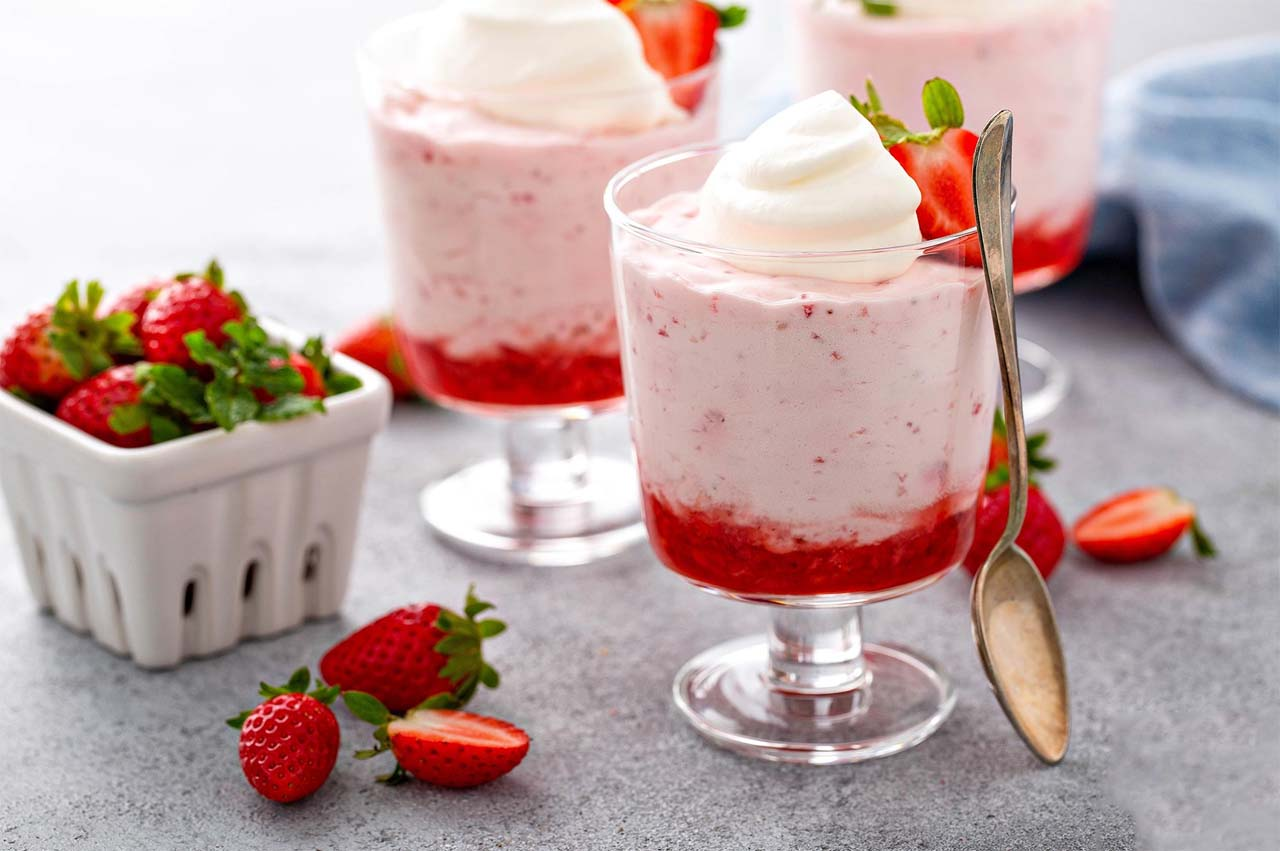 Valentine's Special Strawberry Mousse
