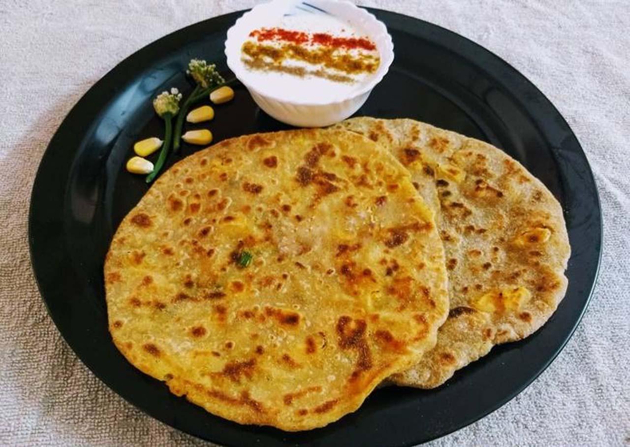 Corn Flour And Mashed Potatoes Paratha
