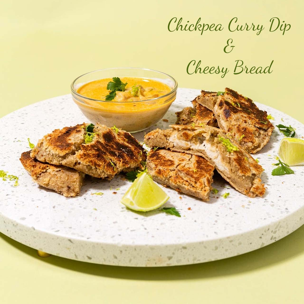 Chickpea Curry Dip With Bread
