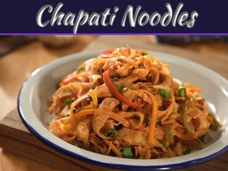 Lip-Smacking Vegetable Chapati Noodles Recipe